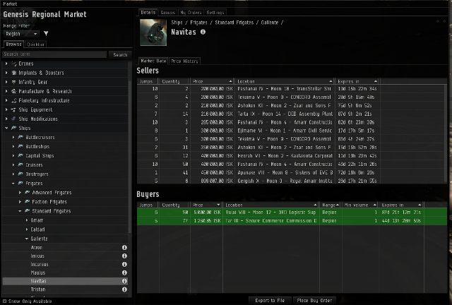 Rynek w EVE jest ewenementem na skalę wszystkich gier MMO - Ważne elementy interfejsu - Pierwsze kroki - EVE Online - poradnik do gry