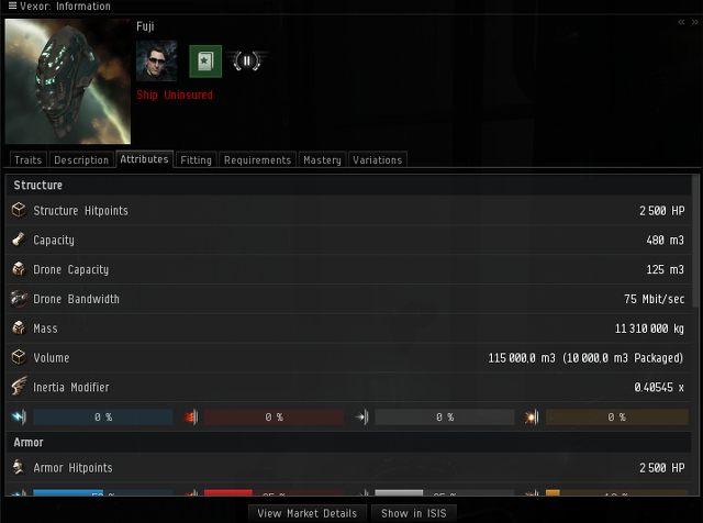 Okienko informacyjne jest ważne ze względu na to, iż podaje różne informacje w zależności od obiektu na jaki klikniemy prawym przyciskiem i wybierzemy Show Info - Ważne elementy interfejsu - Pierwsze kroki - EVE Online - poradnik do gry