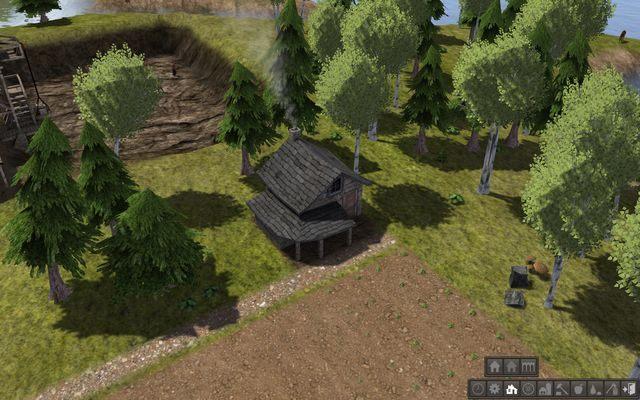 Murowana chatka zapewnia lepszą ochronę przed mrozem. - Domy i budynki mieszkalne - Budynki - Banished - poradnik do gry