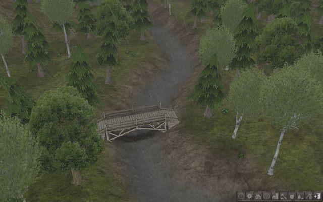 Choć przeprawa nie wygląda solidnie, to w tych warunkach jest aż nadto wystarczająca. - Drogi, most i tunel - Budynki - Banished - poradnik do gry
