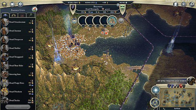 Bardzo dobrze rozwinięta metropolia pozwala na niemal natychmiastową produkcję jednostek. - Ogólne informacje - Rasy i jednostki - Age of Wonders III - poradnik do gry