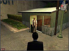 Wracamy do samochodu i czekamy na ochroniarza, który otwiera nam szlaban - Misja 5 - Czysta gra - Mafia: The City of Lost Heaven - poradnik do gry
