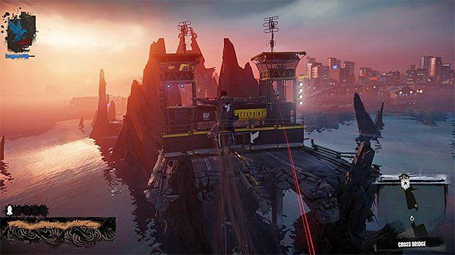 Możesz zaatakować żołnierzy z odległości lub zająć się nimi po dotarciu do nowej części mostu - 8 - The Test - Opis przejścia - inFamous: Second Son - poradnik, opis przejścia, miasto