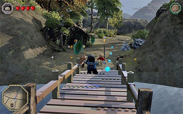 Okolice miejsca rozpoczęcia czwartego etapu gry - Śródziemie - Dotarcie do Siedzib Trolli | Opis przejścia - LEGO The Hobbit - poradnik do gry