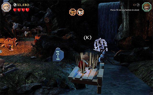 Miejsce rozpoczęcia mini-gry wędkarskiej - Etap 4 (Roast Mutton) - Oswobodzenie koni | Opis przejścia - LEGO The Hobbit - poradnik do gry