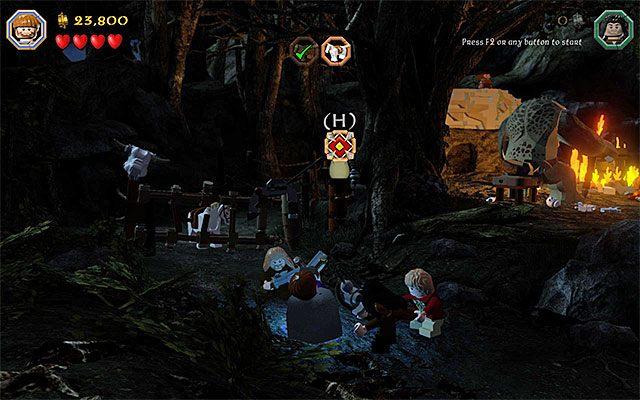 Trafiaj kulkami w nową tarczę - Etap 4 (Roast Mutton) - Oswobodzenie koni | Opis przejścia - LEGO The Hobbit - poradnik do gry