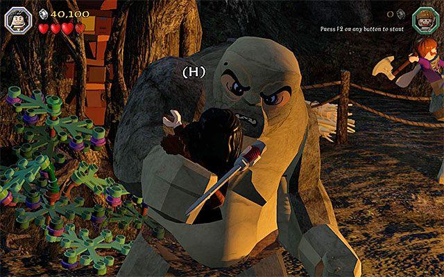 Wciskaj pokazywane na ekranie klawisze - Etap 4 (Roast Mutton) - Bitwa z trollami | Opis przejścia - LEGO The Hobbit - poradnik do gry