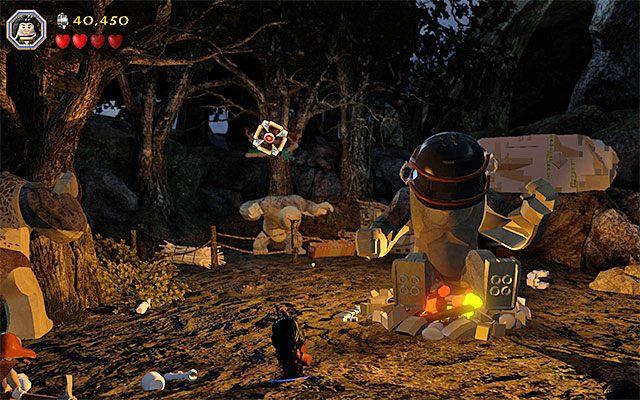 Zachowaj ostrożność, bo ostatni troll zacznie rzucać w bohaterów ciężkimi przedmiotami - Etap 4 (Roast Mutton) - Bitwa z trollami | Opis przejścia - LEGO The Hobbit - poradnik do gry