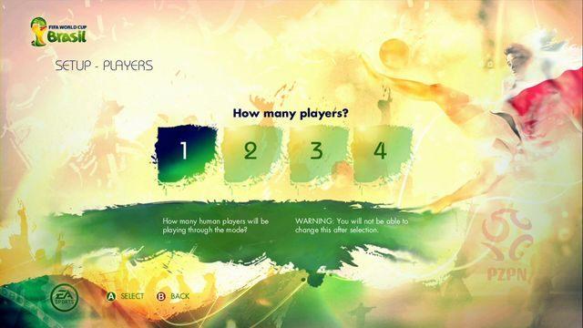 Gra pozwala na jednoczesną rozgrywkę w tym trybie aż czterem graczom - Captain Your Country - Tryby gry - 2014 FIFA World Cup Brazil - poradnik do gry