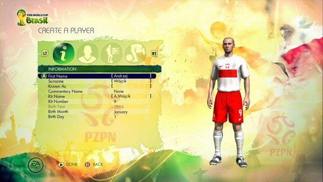Kolejny ekran pozwala nam na dokonanie wyboru, jaki typ zawodnika zamierzamy pokierować - Captain Your Country - Tryby gry - 2014 FIFA World Cup Brazil - poradnik do gry