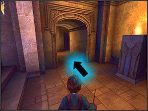 Teraz dopiero znajdź Rona i biegnij za nim na górę - W drodze do pokoju - Powitanie - Harry Potter i Komnata Tajemnic - poradnik do gry