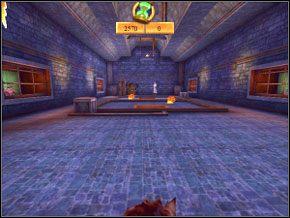 Znajdziesz się w dużej sali - Sala Treningowa Rictusempry - Nauka Rictusempry - Harry Potter i Komnata Tajemnic - poradnik do gry