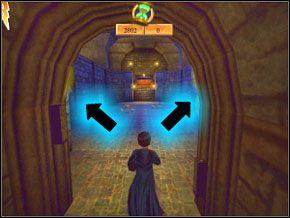 Ogłusz i wepchnij do dziur oba ogniste żuki, a dzięki temu mury po obu stronach się obniżą - Sala Treningowa Rictusempry - Nauka Rictusempry - Harry Potter i Komnata Tajemnic - poradnik do gry