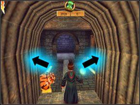 Znów do pokonania masz dwa ślimaki, ogłusz je, otwórz drugim czarem obie dziury i za pomocą zaklęcia Flipendo wrzuć oba ślimaki tam, gdzie ich miejsce - Sala Treningowa Rictusempry - Nauka Rictusempry - Harry Potter i Komnata Tajemnic - poradnik do gry