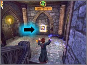 (SEKRET 7/7) Powinieneś zobaczyć mały portret Lockharta - Sala Treningowa Rictusempry - Nauka Rictusempry - Harry Potter i Komnata Tajemnic - poradnik do gry