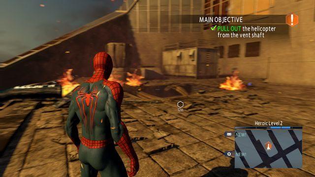 Dach budynku OSCROPu - Raid on OSCORP - Opis przejścia - The Amazing Spider-Man 2 - poradnik do gry