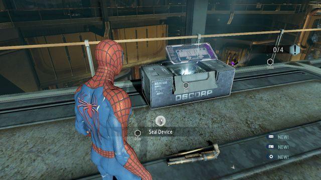 Oznacz urządzenia - Raid on OSCORP - Opis przejścia - The Amazing Spider-Man 2 - poradnik do gry