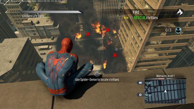 Miejsca z lokalizacją cywili - Day of the Hunter! - Opis przejścia - The Amazing Spider-Man 2 - poradnik do gry