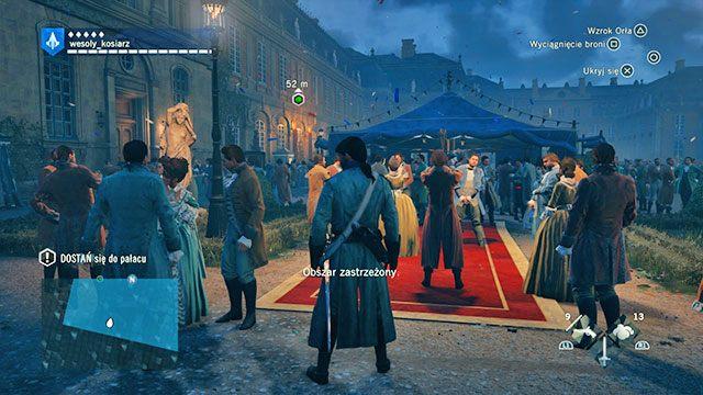 Wielkie przyjęcie, wielu gości, wielu strażników. - 03 - Śmietanka towarzyska | Solucja AC Unity - Assassins Creed: Unity - poradnik do gry