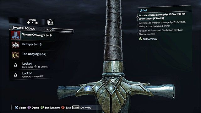 Każda z odmian broni może mieć maksymalnie 5 slotów na runy - Ulepszanie broni - Rozwój postaci - Środziemie: Cień Mordoru - poradnik do gry
