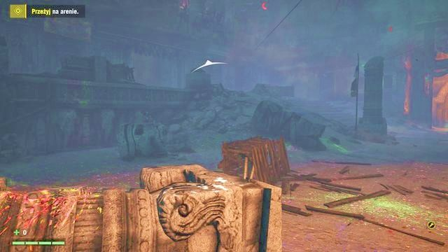 Schowaj się w miejscu, w które zostaniesz wrzucony, i poczekaj, aż bestia załatwi któregoś przeciwnika. - Paszcza szaleństwa - Zadania główne - Far Cry 4 - poradnik do gry