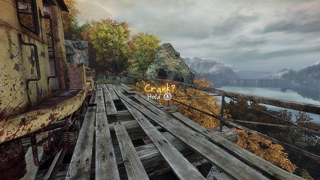 Torami dojdziesz do mostu, po jego drugiej stronie stoi stara drezyna - Śmierć na torach - Opis przejścia - Zaginięcie Ethana Cartera - poradnik do gry