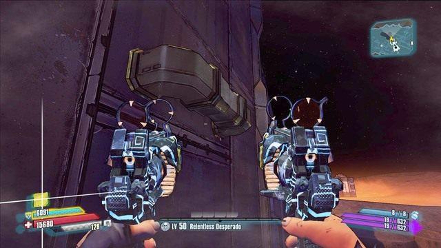Po wskoczeniu na dach popatrz w prawo a znajdziesz mały podest - Nel - Bossowie i taktyki - Borderlands: The Pre-Sequel! - poradnik do gry