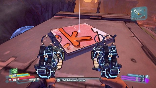 Przejdź spadem na główny dach a znajdziesz pierwszą literę K oraz skrzynię z uzbrojeniem - Nel - Bossowie i taktyki - Borderlands: The Pre-Sequel! - poradnik do gry