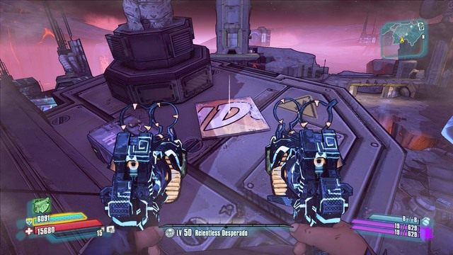 Po udanych skokach możesz w spokoju przejść na dach, opróżnić skrzynię oraz zabrać drugą literę D - Nel - Bossowie i taktyki - Borderlands: The Pre-Sequel! - poradnik do gry