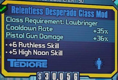 Dla Nishy można zebrać aż trzy przydatne Class Mody - Nisha The Lawbringer - Klasy postaci - Borderlands: The Pre-Sequel! - poradnik do gry