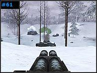 Korzystając z zaskoczenia, jakie wywoła zajście przeciwnika z boku, wrzuć do okopów kilka granatów i szybko wykończ operatora działa - Misja 4 - Into the Woods - Medal of Honor: Allied Assault - Spearhead - poradnik do gry