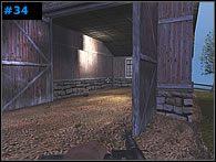 Oczyść budynek przypominający garaż [#34] i zupełnie przy okazji skorzystaj z umieszczonej w jego wnętrzu apteczki - Misja 3 - The Other Side of the River - Medal of Honor: Allied Assault - Spearhead - poradnik do gry