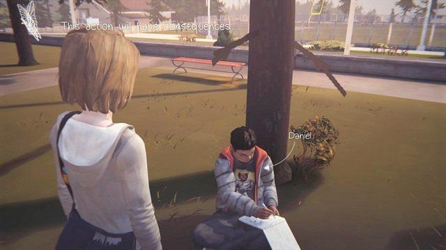 Pierwsza decyzja to moment, w którym rozmawiasz z Danielem - Decyzje | Epizod 1 - Chrysalis - Life is Strange - poradnik do gry