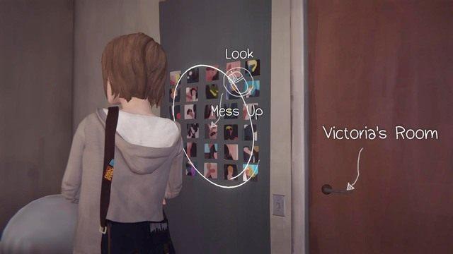 Kolejna decyzja odnosi się do pokoju Victorii i jej poukładanych zdjęć na ścianie - Decyzje | Epizod 1 - Chrysalis - Life is Strange - poradnik do gry