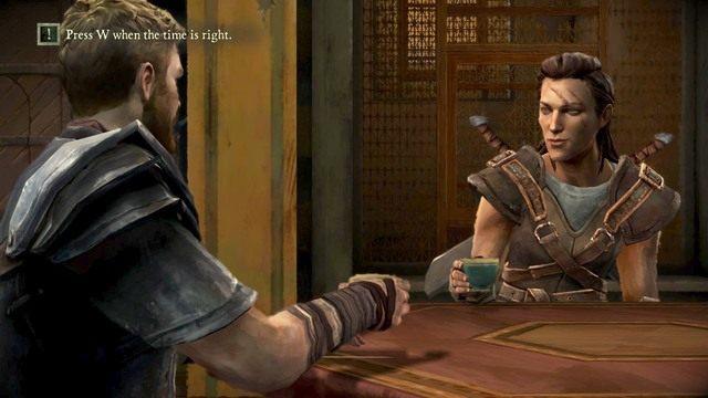 Po rozmowie z Beskhą będziesz musiał wznieść toast - Rozdział 1| Epizod 2 - The Lost Lords - Game of Thrones - A Telltale Games Series - poradnik do gry