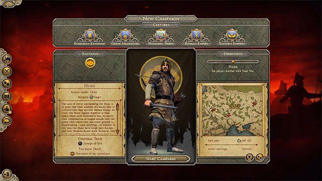 Jeźdźcy apokalipsy oferują aż cztery bonusy - Hunowie - Wybór frakcji - Total War: Attila - poradnik do gry