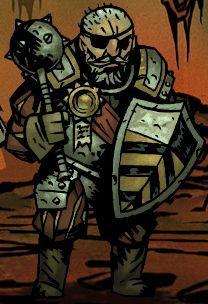 Zbrojny to postać, która najbardziej pasuje do roli typowego tanka, wymieszanego nieco z klasą wspierającą - Zbrojny / Man-at-Arms | Klasy bohaterów - Darkest Dungeon - poradnik do gry