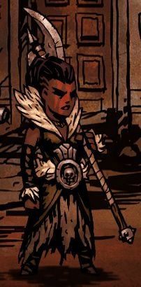 Walcząca wyszczerbioną glewią Awanturniczka jest odpowiednikiem typowego barbarzyńcy w świecie Darkest Dungeon - Awanturniczka / Hellion - Klasy bohaterów - Darkest Dungeon - poradnik do gry