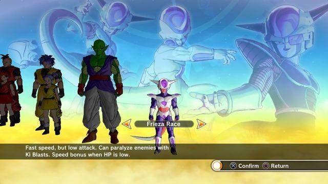 Tworzenie postaci - wybór rasy - Tworzenie postaci - Dragon Ball: Xenoverse - poradnik do gry