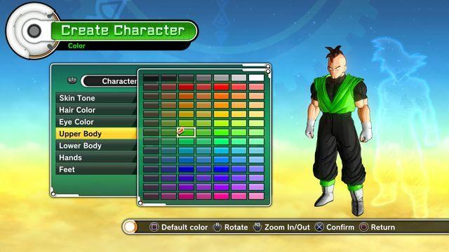 Tworzenie postaci - dostosowanie koloru uniformu - Tworzenie postaci - Dragon Ball: Xenoverse - poradnik do gry