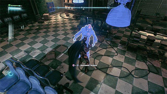 Wkrótce rozpocznie się nowa bitwa i na jej początek będziesz musiał rozprawić się z silniejszym bandytą (Brute) - Wyeliminowanie wrogów przebywających w tunelach - Główny wątek fabularny - Batman: Arkham Knight - opis przejścia