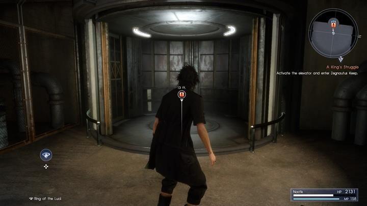 Po krótkiej wędrówce dotrzesz do windy, z której wyłoni się kilka daemonów - Chapter 13 - Redemption - Final Fantasy XV - poradnik do gry