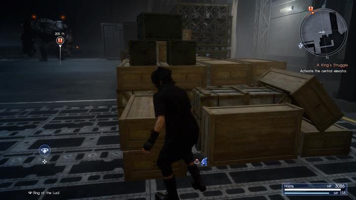 Magazyn patrolują daemony - unikaj walk z nimi i dotrzyj do karty dostępu windy - Chapter 13 - Redemption - Final Fantasy XV - poradnik do gry