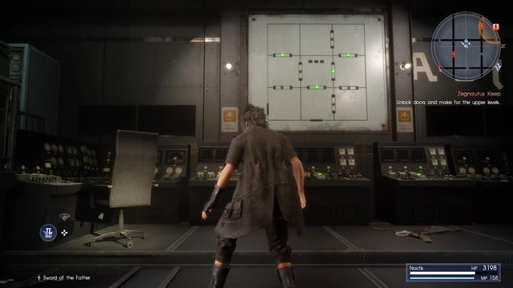 Z pomocą kart, możesz odblokowywać dostęp do sąsiednich pokoi - Chapter 13 - Redemption - Final Fantasy XV - poradnik do gry