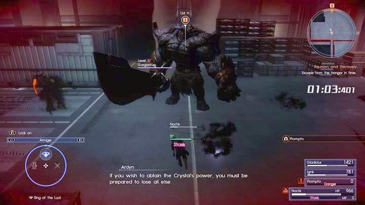 Nie możesz wygrać tej bitwy - biegnij do wyjścia - Chapter 13 - Redemption - Final Fantasy XV - poradnik do gry
