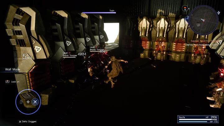 Następnie teleportuj się do statków na niebie, wejdź do środka i niszcz shock troopery - Chapter 11 - In the Dark - Final Fantasy XV - poradnik do gry