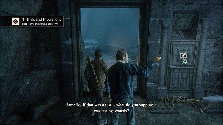 Po wykonaniu wszystkich opisanych wyżej czynności raz jeszcze udaj się do lewych drzwi i wsadź rękę do mechanizmu - 9 - Ci, którzy zasłużą... - Opis przejścia - Uncharted 4: A Thiefs End - poradnik do gry