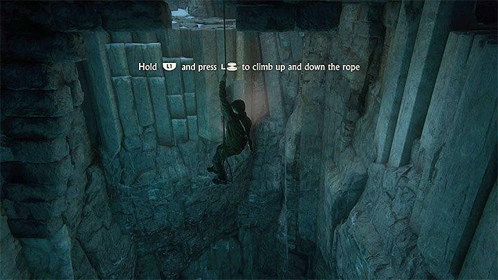 Udaj się w stronę przeciwnego narożnika pomieszczenia i użyj linki z hakiem na tutejszym zaczepie - 9 - Ci, którzy zasłużą... - Opis przejścia - Uncharted 4: A Thiefs End - poradnik do gry