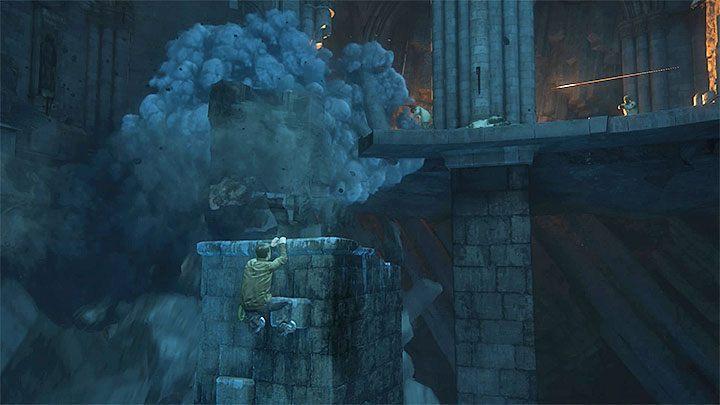 Jako że Nate nie posiada początkowo żadnej broni nie trać czasu i pobiegnij jak najszybciej w stronę Sama ukrywającego się po prawej stronie - 9 - Ci, którzy zasłużą... - Opis przejścia - Uncharted 4: A Thiefs End - poradnik do gry