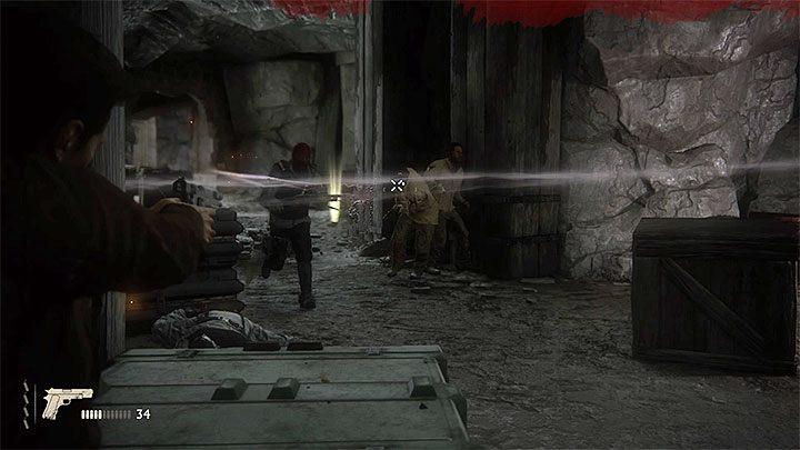 Od tego momentu możesz używać broni do pomagania Samowi w eliminowaniu wrogów, przy czym pamiętaj oczywiście o tym żeby ostrzał starać się zawsze prowadzić zza zasłony - 9 - Ci, którzy zasłużą... - Opis przejścia - Uncharted 4: A Thiefs End - poradnik do gry